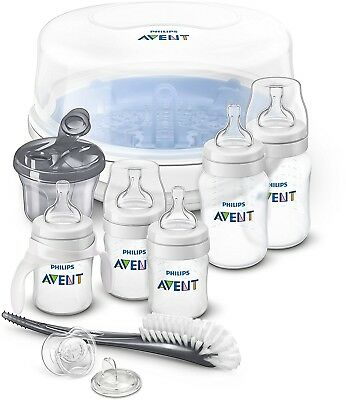 Philips Avent Anti-colic Bottle Essentials Newborn Starter Set Clear