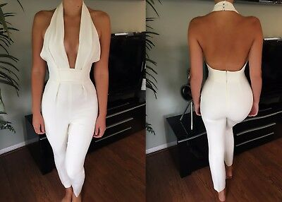 Gucci Sexy Plunging Neckline Open Back Jumpsuit Sz 40 4 Sold Out!!!
