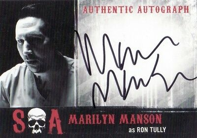 Sons Of Anarchy Seasons 6 -7 Ultra Rare Marilyn Manson As Ron Tully Mm Auto Card