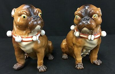 Very Fine Pair Of Conta German Porcelain Pugs Made In The Early 19th Century