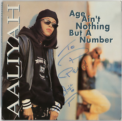 aaliyah signed autographed age ain
