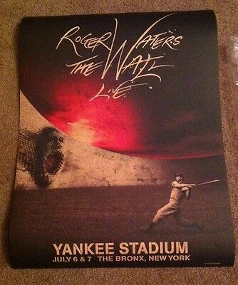 Roger Waters The Wall Yankee Stadium Limited Edition Poster Pink Floyd Only 3000