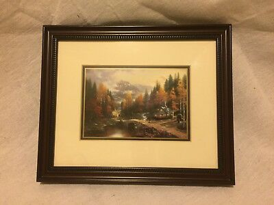 "Certified Thomas Kincade ""valley Of Peace"" 9.5"" X 11.25"" Framed"