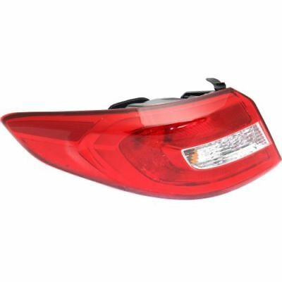 For Sonata 15-16, Capa Left Tail Light, Clear Andamp; Red Lens