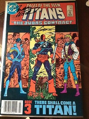 Tales Of The New Teen Titans  #44 Signed By Perez & Wolfman  1st Nightwing