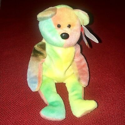 Garcia The Tie-dyed Bear Retired W/ Tag Errors Ty Beanie Babies