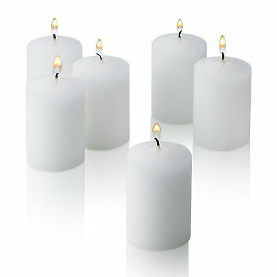15 Hour Votive Candles White Unscented Smokeless Natural Soy Wax Paraffin