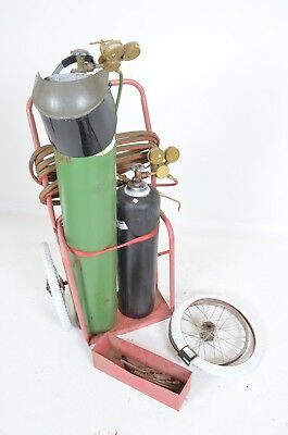 large welding kit w/ oxygen and acetylene + cart and accessories