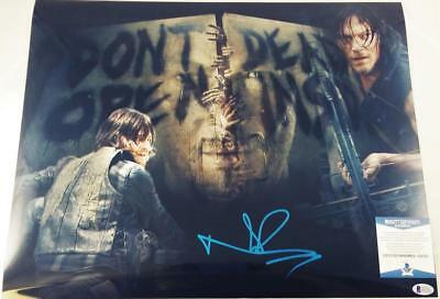 Norman Reedus Daryl Dixon Signed 16x20 Photo The Walking Dead Bas Coa 303