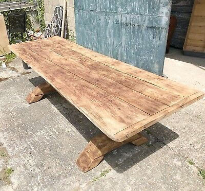 beautiful, 18thc oak dining table, rustic, refectory, antique, vintage