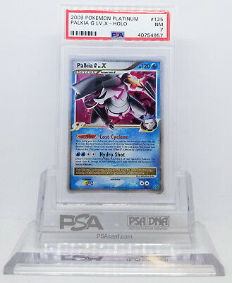 Pokemon PLATINUM BASE SET PALKIA G LV X #125 HOLO FOIL CARD PSA 7 NM #*