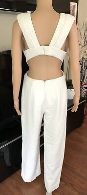 Brandon Maxwell Sexy Plunging Cutout Back Jumpsuit Sz 4 Sold Out!!!