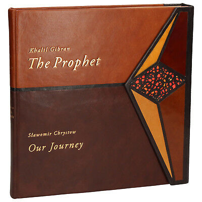 """gibran khalil """"the prophet"""" collectible leather fine binding"""