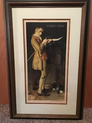 Norman Rockwell Ichabod Crane Pencil Signed, Numbered 14/200 Lithograph Framed