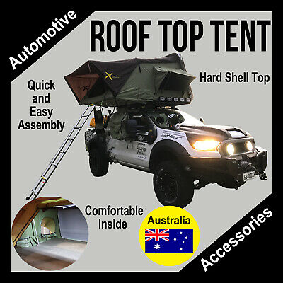 Hard Shell Aerodynamic Rooftop Tent Suits 4wd + Trailer Camping