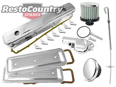 Holden 6 Cyl Chrome Engine Kit Rocker +oil +breather +plates +dip +thermostat +t