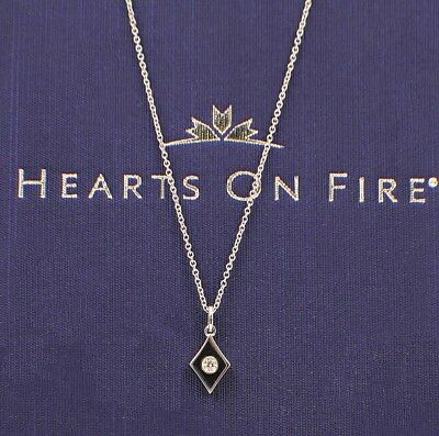Hearts On Fire Full House Diamond Pendant Necklace 18k White Gold Adjustable