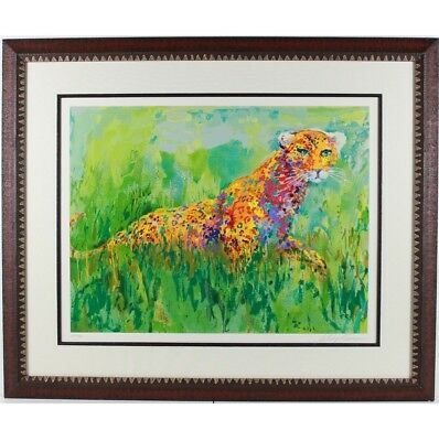 """prowling Leopard""      By Leroy Neiman - A Limited Edition Serigraph On Paper"