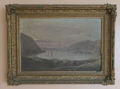 Hudson River Valley West Point Military Army Maritime Painting For Restoration