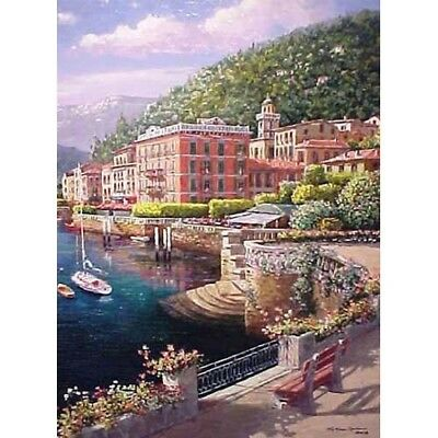 """""""lakeside At Bellagio"""" - Framed By Sam Park - Limited Edition Giclee On Canvas"""