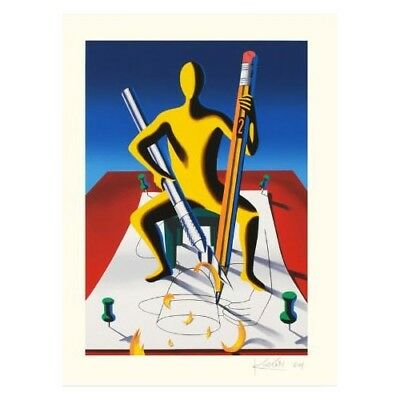 """""""careful With That Ax, Eugene"""" By Mark Kostabi - Le Serigraph On Paper"""