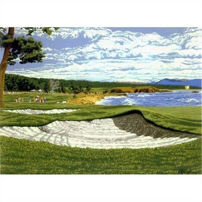 """""""pebble Beach"""" By Rick Rush - Limited Edition Serigraph On Paper"""
