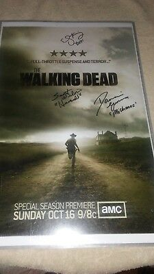 The Walking Dead Season 2 Promotional Poster *autographed*