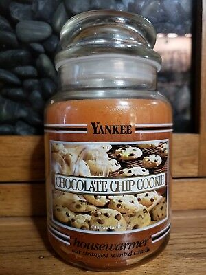 Yankee Candle Chocolate Chip Cookie 22 Oz - Black Band - Rare Never Lit!!