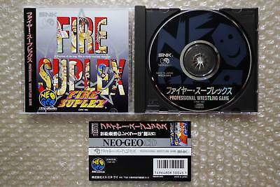 "Fire Suplex + Spine Card ""very Good Condition"" Neo Geo Cd Snk Japan"