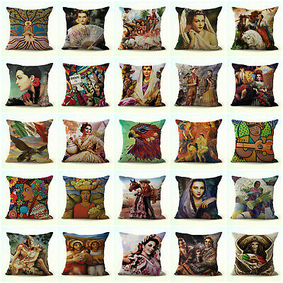 Us Seller- Set Of 20 Couch Throw Pillow Case Hispanic Mexican Art Cushion Covers