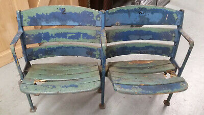 Vintage Old Yankee Stadium Built In 1923 Pair Of Seats In Original Condition