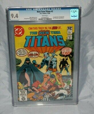 The New Teen Titans #2 Cgc 9.4 1st Deathstroke Tales Of #44 9.6 1st Nightwing