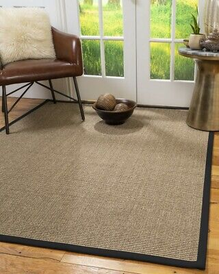 Sandstone Sisal Large Modern Non-slip Skid Resistant Area Throw Rug Carpet