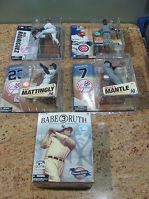 Lot Of 4 Mcfarland Yankee Figures & Babe Ruth Cooperstown Collection, Usc#555