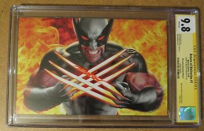 Return Of Wolverine #1 Signed By Mike Mayhew Cgc 9.8 Variant Virgin Comic Book