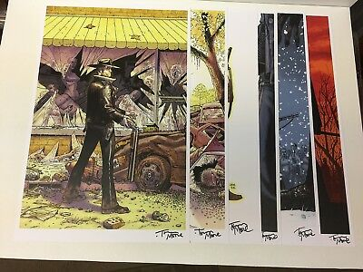 Walking Dead #1-6 Original Cover Art Print Signed By Tony Moore (only 1 On Ebay)