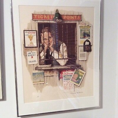 "Norman Rockwell ""ticket Seller"" 1975 