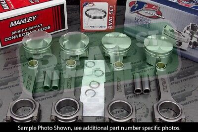Je Pistons Manley H Beam Rods Mazda Miata Bp 1.8l 84.5mm 9.0:1 Cr