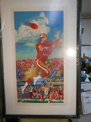 Larry Neiman Jerry Rice Serigraph Signed By Both 5/50 Artist Proof Framed