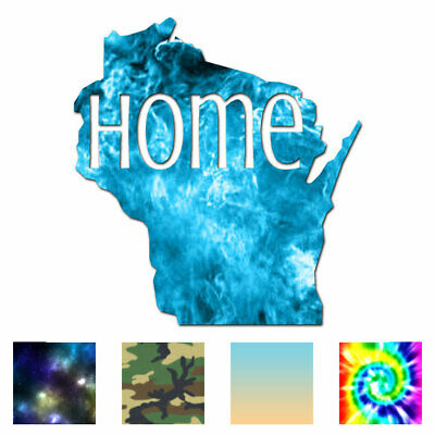 Wisconsin Home State - Vinyl Decal Sticker - Multiple Patterns & Sizes - Ebn3851