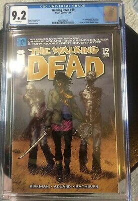 The Walking Dead #19 Cgc 9.2 White Pages 1st Michonne Problem Free Slab Hot!!