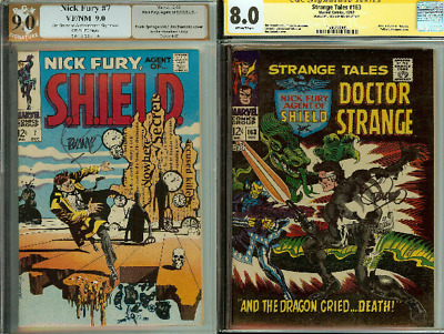 Nick Fury Agent Of Shield #7 Signed Pgx (not Cgc) 9.0 9.2 Pick Your Issue