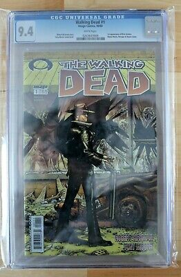 Walking Dead 1 Cgc 9.4 1st Print White Label 1st Appearance Rick, Carl, Etc.