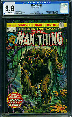 Man-thing #1 Cgc 9.8 White 1st Issue 2nd App Of Howard The Duck #1266629005