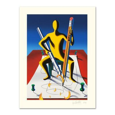 """Mark Kostabi """"careful With That Ax, Eugene"""" Limited Edition Serigraph On Paper"""