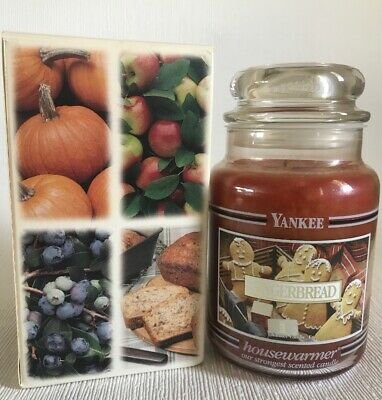Yankee Candle Black Band Vintage Gingerbread Retired New In Box Housewarmer 22oz