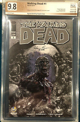 Clayton Crain Original Sketch Art 9.8 Signed Zombie The Walking Dead Cgc Cbcs