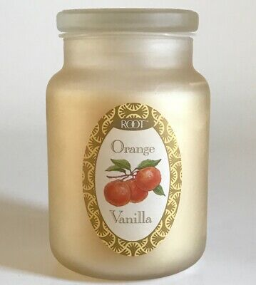 Root Candle Orange Vanilla 22oz Frosted Jar Retired Large 2 Wick Usa Creamsicle
