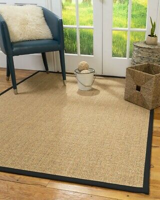 Studio Sisal Large Modern Non-slip Skid Resistant Area Throw Rug Carpet