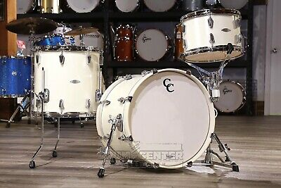 C&c Maple Gum 3pc Jazzette Drum Set Egg Nog Vintage Gloss